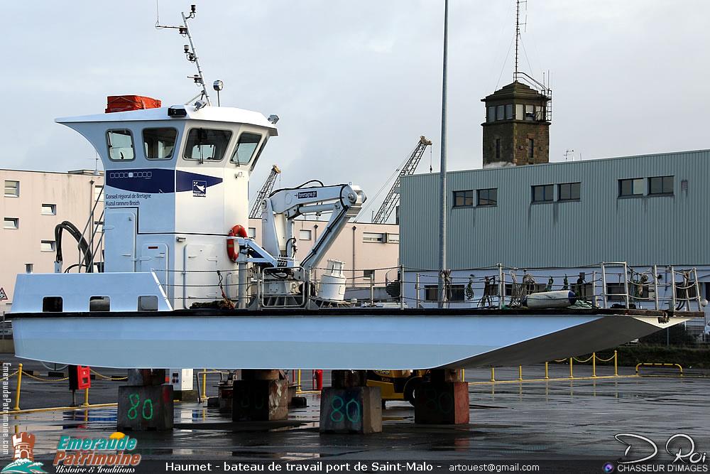 Haumet - bateau de travail port de Saint-Malo