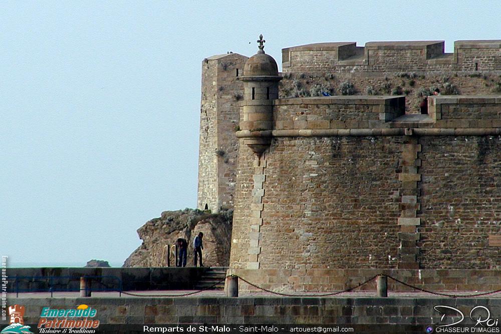 Muraille des remparts de Saint-Malo