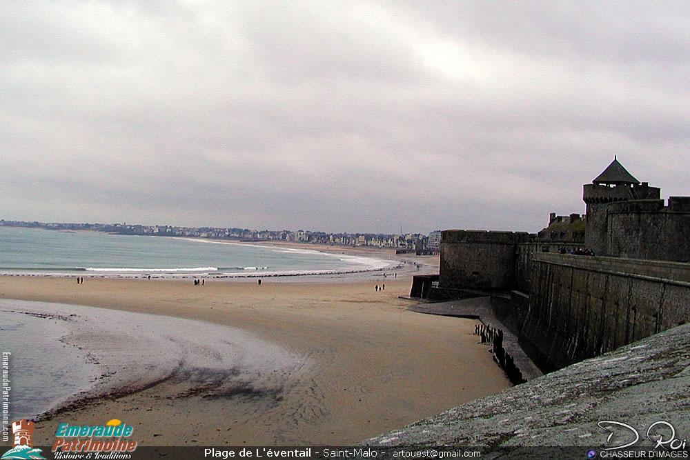 Plage de l'éventail - Saint-Malo intra-muros