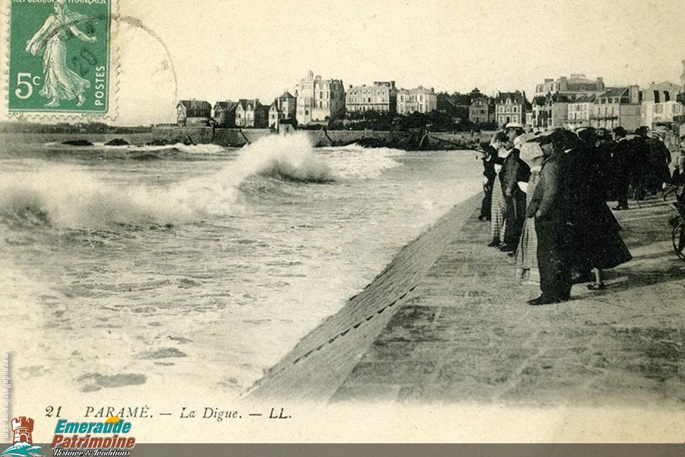 Digue de Paramé - Carte postale ancienne