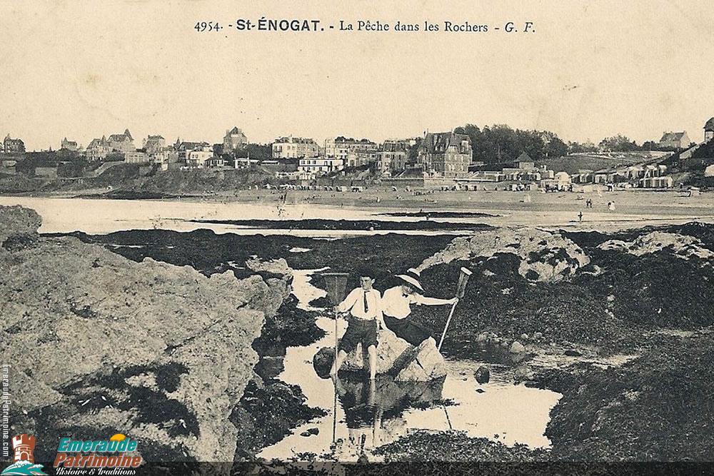 Pêche dans les rochers - Saint-Enogat