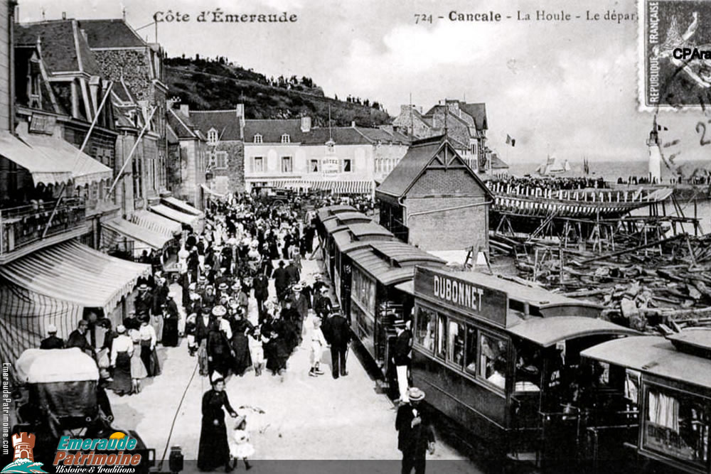 La Houle - Le départ des trains - Cancale