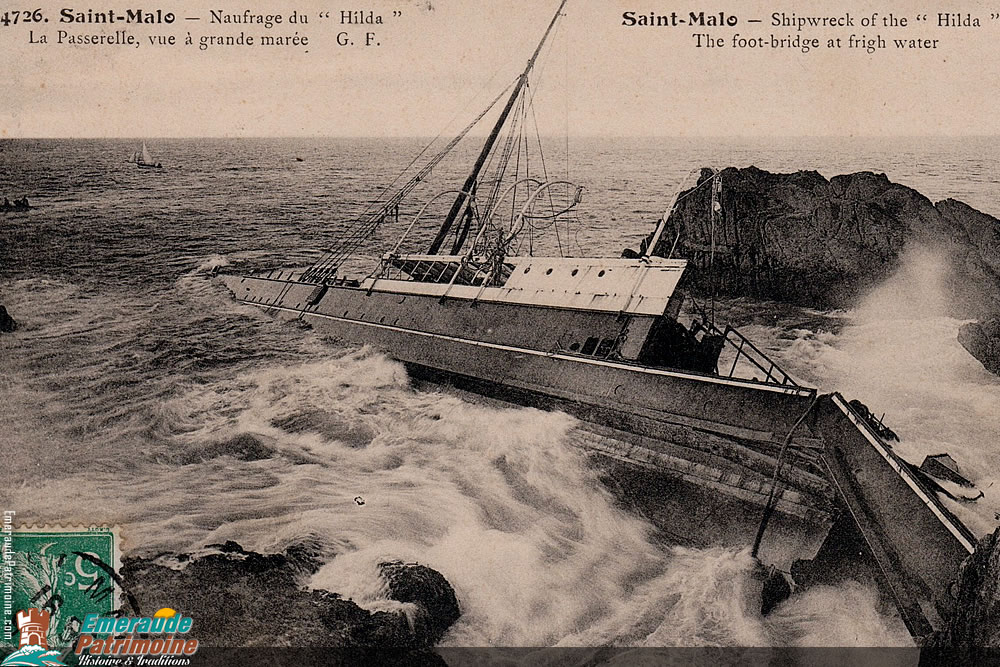 Naufrage du Hilda - A la Pierre de Portes