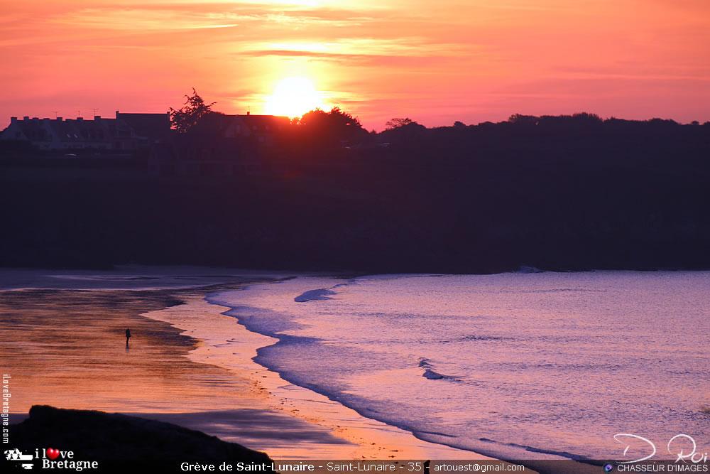 Grande plage de Saint-Lunaire