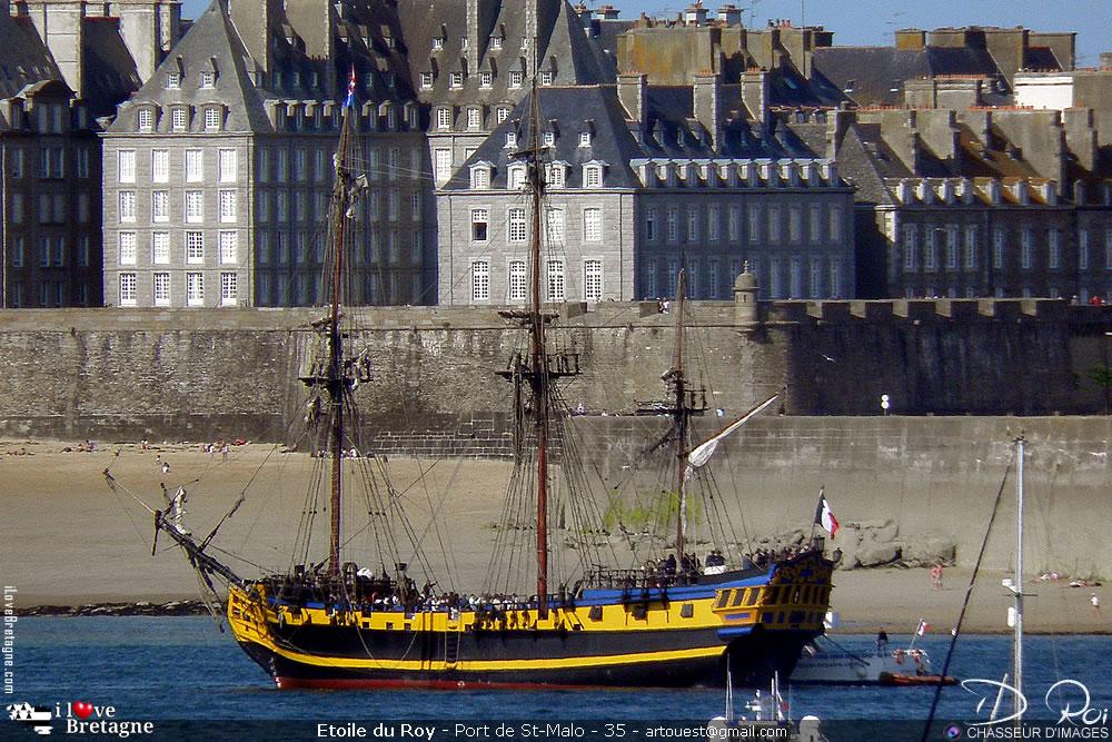 Étoile du Roy trois-mâts carré - Saint-Malo